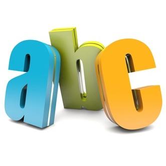 abc colorful letters
