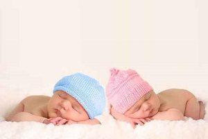 Newborn baby twins